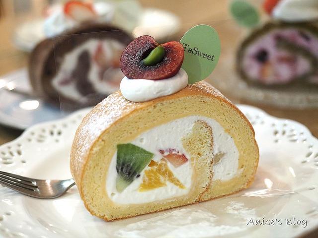 捷運國父紀念館站甜點推薦,Tasweet 水果蛋糕捲好好吃 @愛吃鬼芸芸