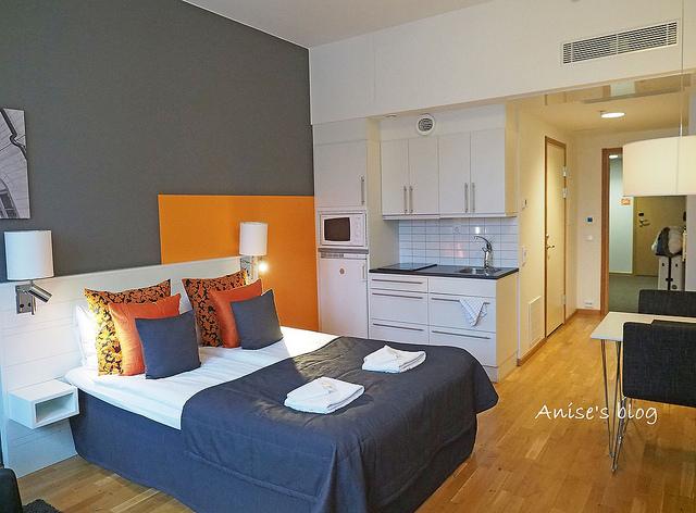 斯德哥爾摩住宿推薦Sky Hotel Apartments,能開火的舒適旅館! @愛吃鬼芸芸
