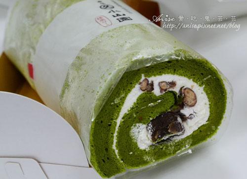 夢卡朵抹茶瑞士蛋糕捲,使用很厲害的小山園抹茶粉! @愛吃鬼芸芸
