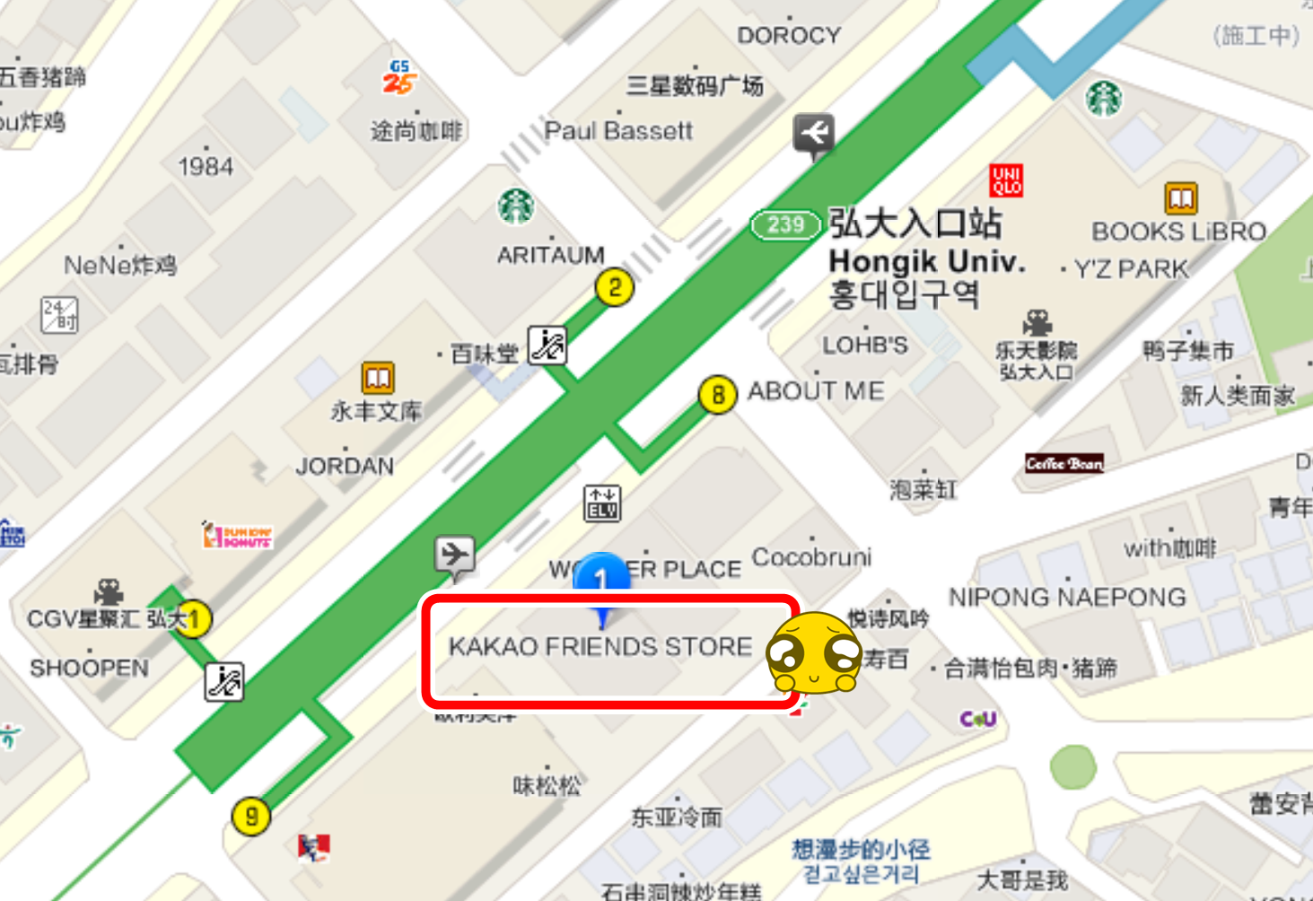 KAKAO FRIENDS STORE 弘大店