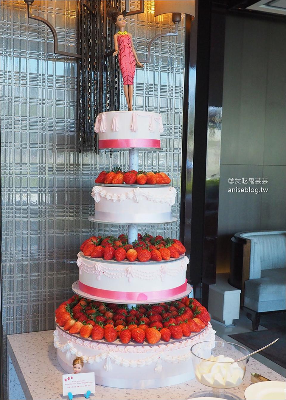 首爾草莓吃到飽 | 東大門萬豪酒店 The Lounge草莓甜點專賣店