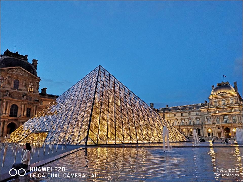 巴黎   羅浮宮夜景,夏天要拍到半夜喔!