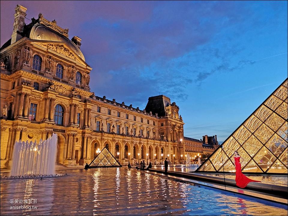 巴黎 | 羅浮宮夜景,夏天要拍到半夜喔!