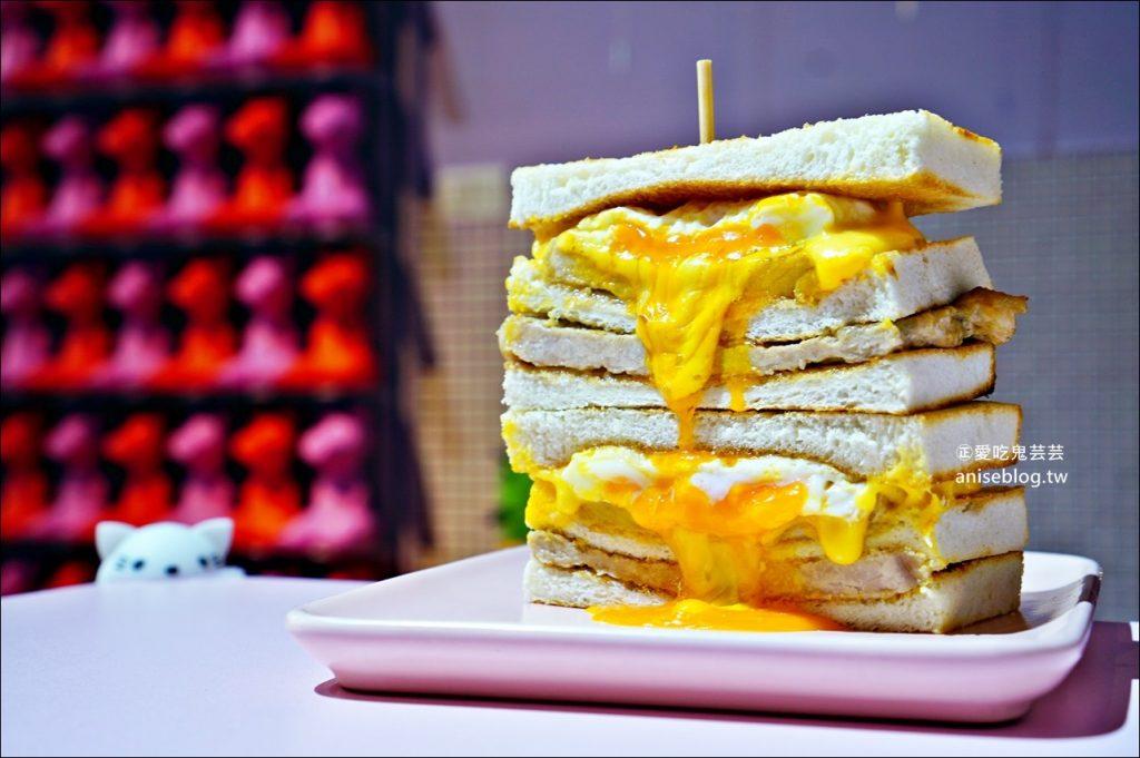 餓店蒸氣吐司、厚切蛋餅,三重人氣早午餐店,捷運台北橋站美食(姊姊食記)