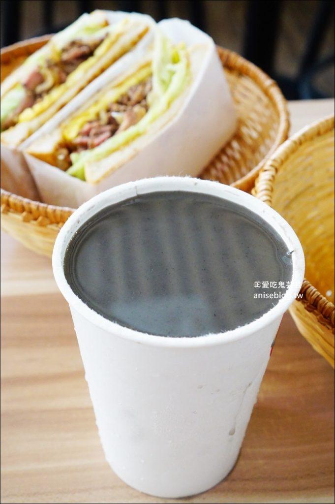 滿樂鐵板吐司,芋泥肉鬆、鹹豬肉吐司,早午餐、丼飯(姊姊食記)