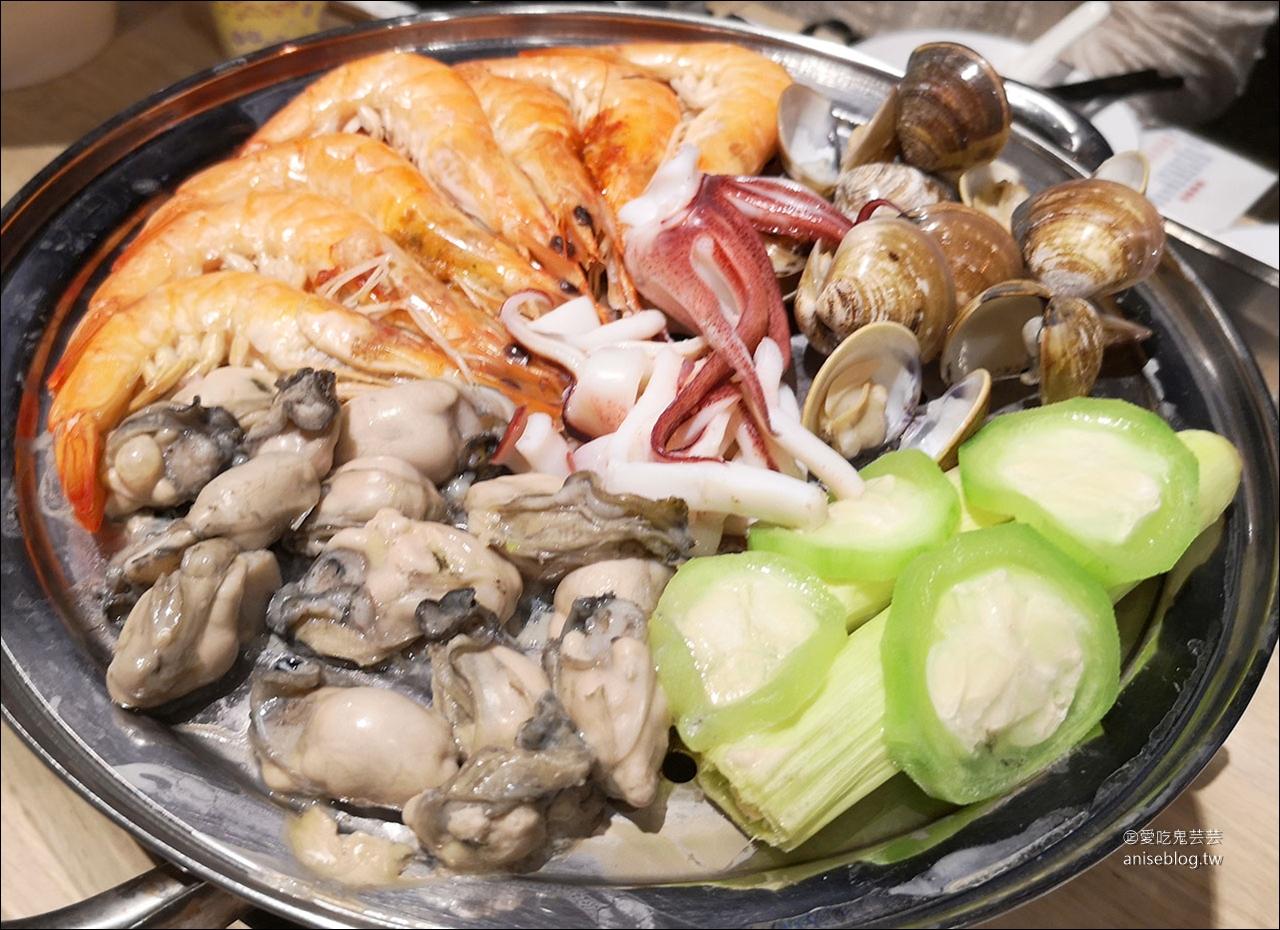 澎湖蒸海鮮 | 鮮食堂海鮮蒸鍋,層層疊疊的澎湖海鮮痛風鍋😍