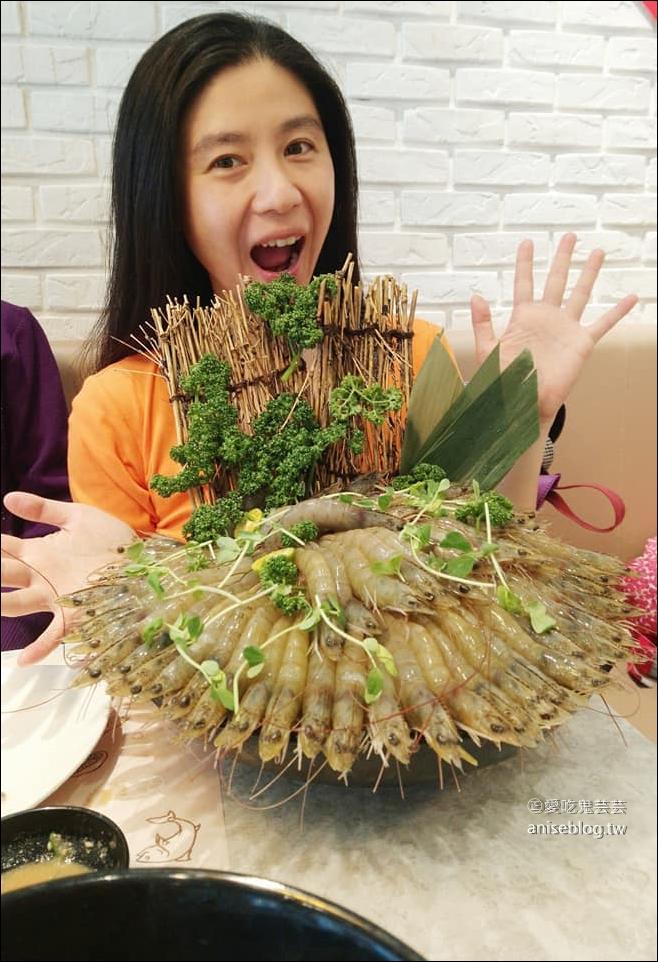 天棧鍋物,幾歲生日就送幾隻蝦,還送芝玫蛋糕!