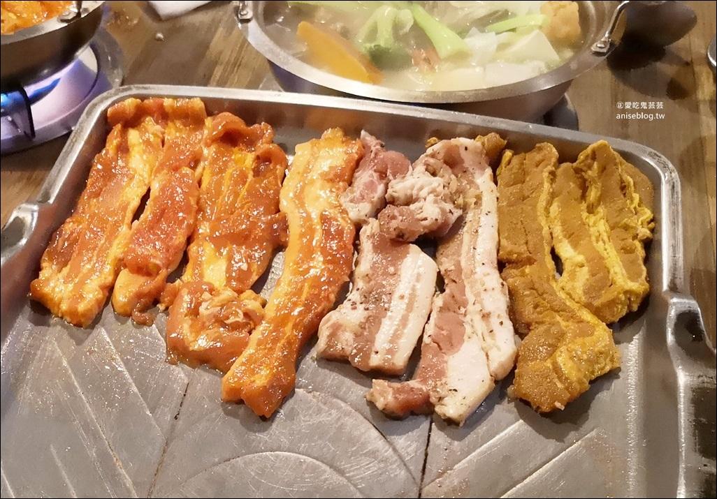 玖佰號烤豬五花、火鍋,兩百元就能吃平價版七色五花豬烤肉,萬華區美食(姊姊食記) @愛吃鬼芸芸