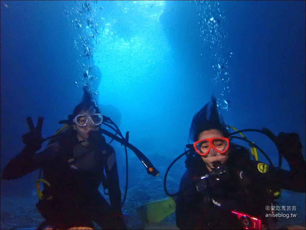 沖繩青之洞窟潛水My Diving,怕水的妹子也挑戰成功啦!