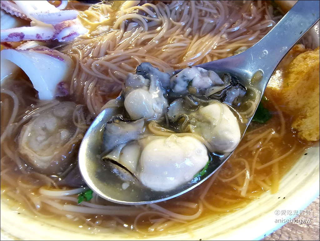 面線町,來碗$150的超浮誇奢華海王子三寶麵線吧!