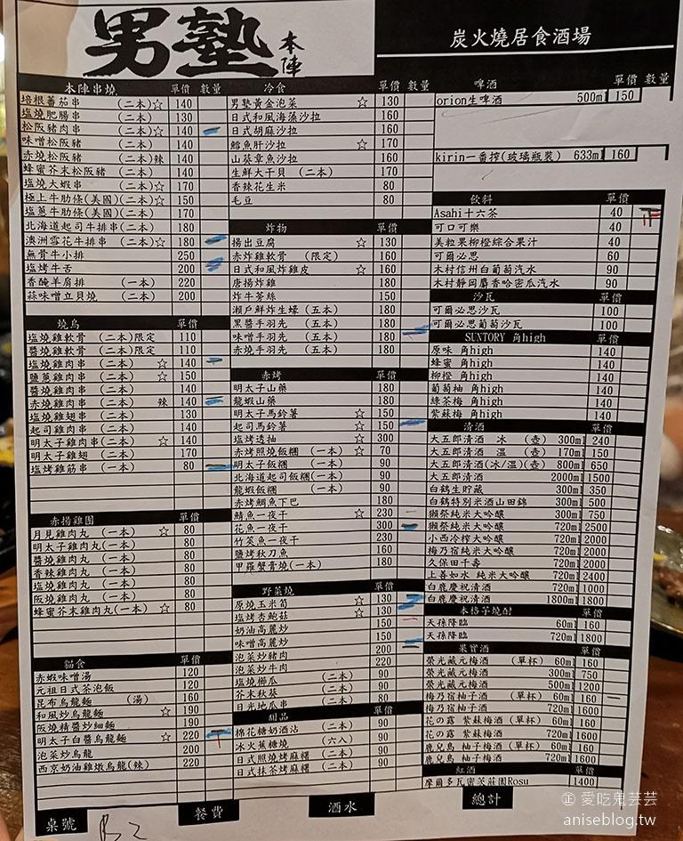 男塾本陣夜食酒場,東區美味串燒居酒屋 (原赤門)