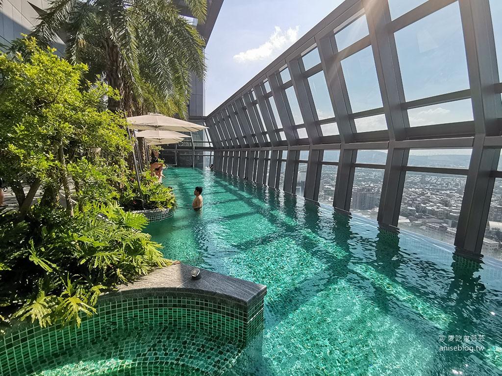 台北新板希爾頓酒店,絕美高樓層泳池俯瞰新北景觀 @愛吃鬼芸芸