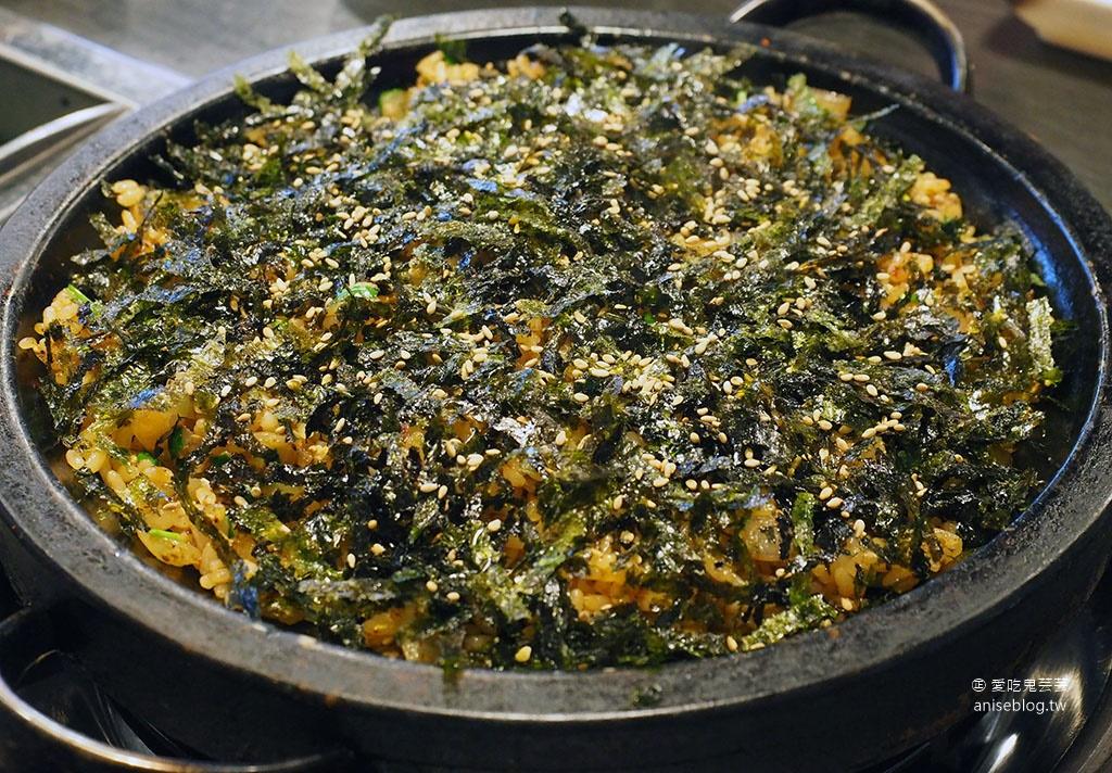 首爾八八海鮮鍋,活跳跳的龍蝦、鮑魚、章魚等滿滿一鍋@波拉梅站