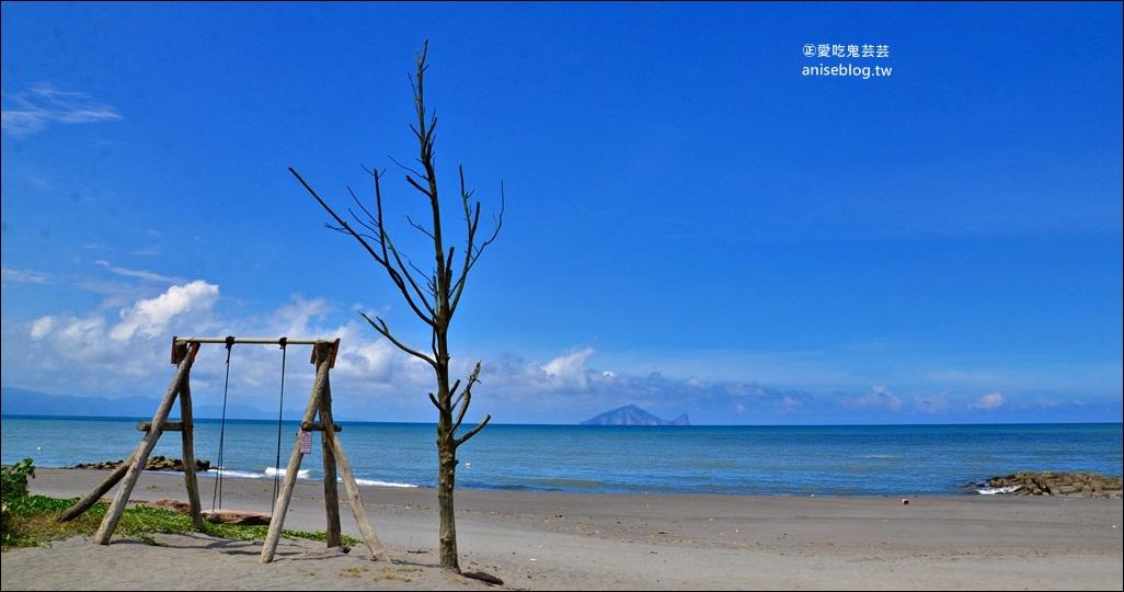 宜蘭海景鞦韆,漂流木重生蛻變成熱門景點,壯圍鄉廍後社區(姊姊遊記)