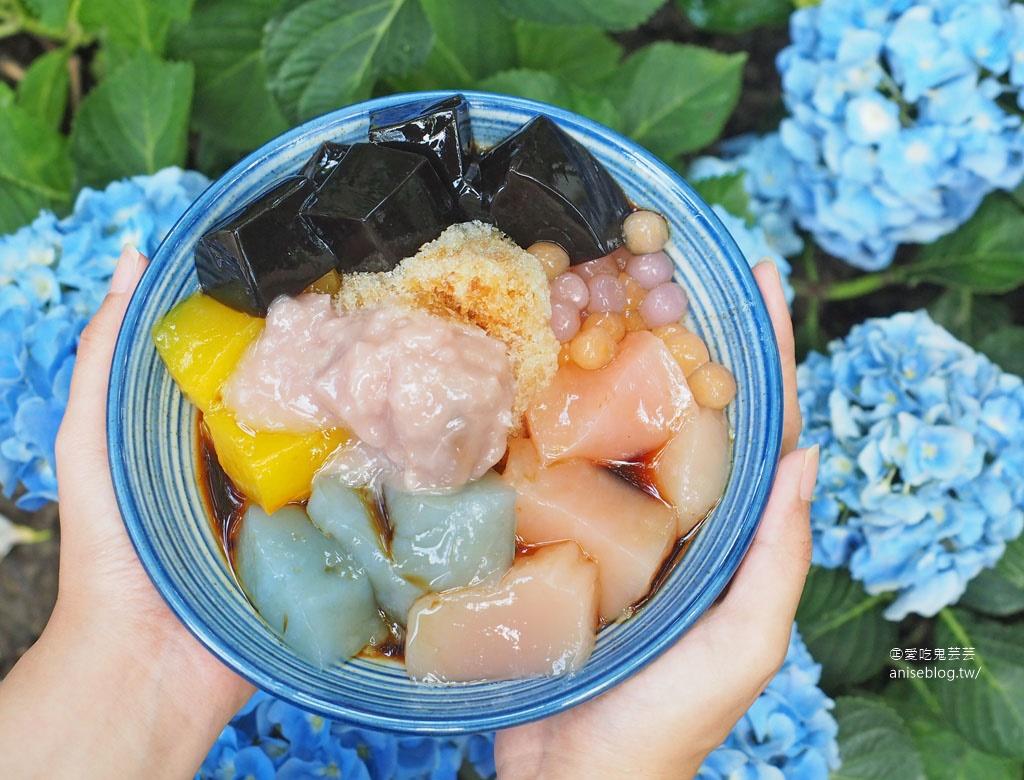 好色冰粿室@卓也小屋,超美五色粉粿冰、翠玉包子
