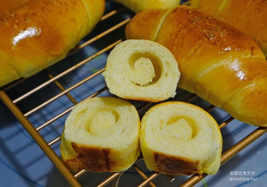 海鹽奶油捲(鹽可頌)配方-麵包機簡單版,第一次做就成功!