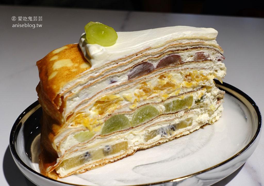 香緹果子咖啡館,台中超夯、不能訂位的千層蛋糕店