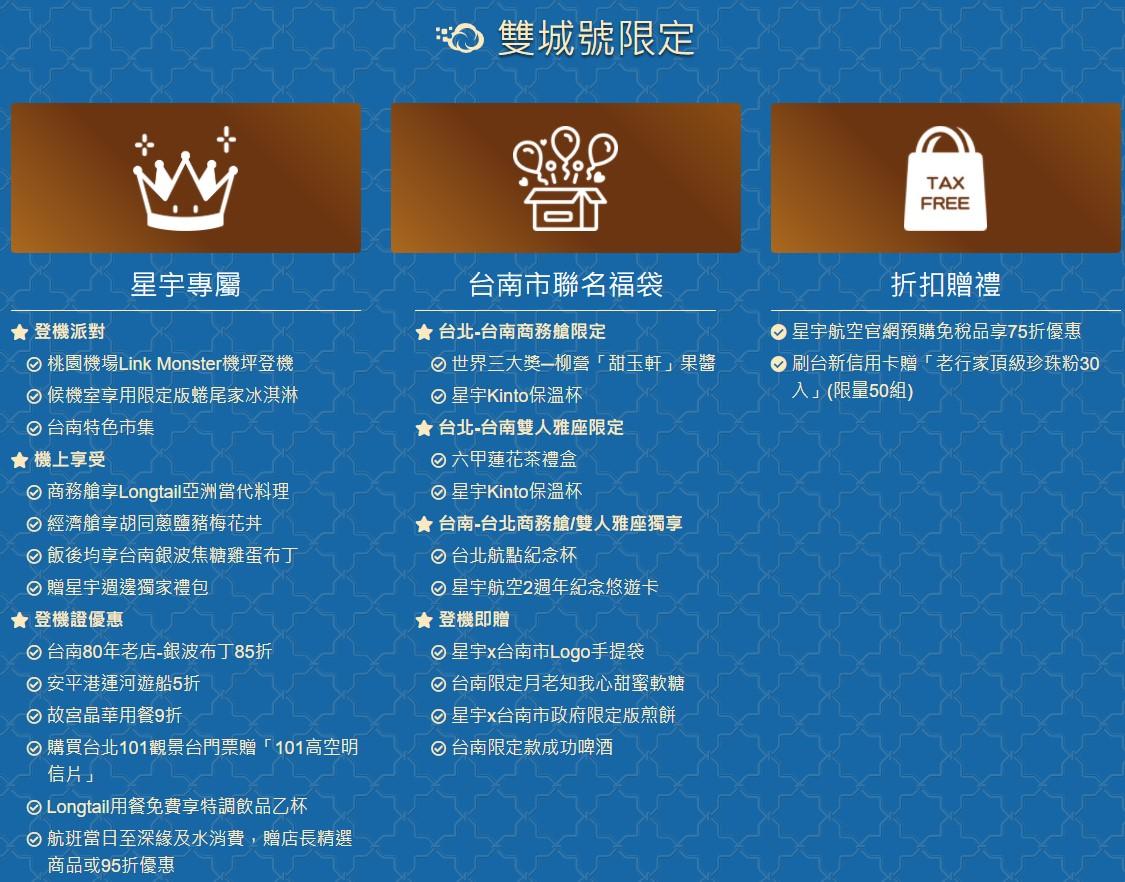 星宇航空「台北台南雙城號 – 微旅行2.0」,含住宿、機場接送