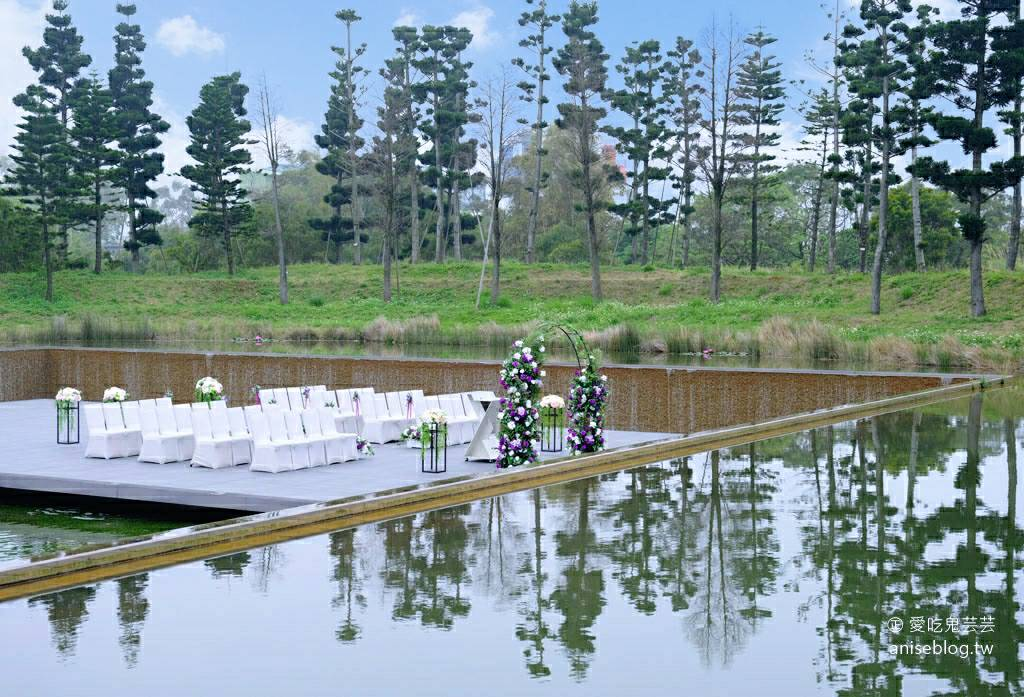 南方莊園里昂廳喜宴 | 一生一次的浪漫專案:水平台戶外證婚儀式、婚宴酒會點心、中式桌席