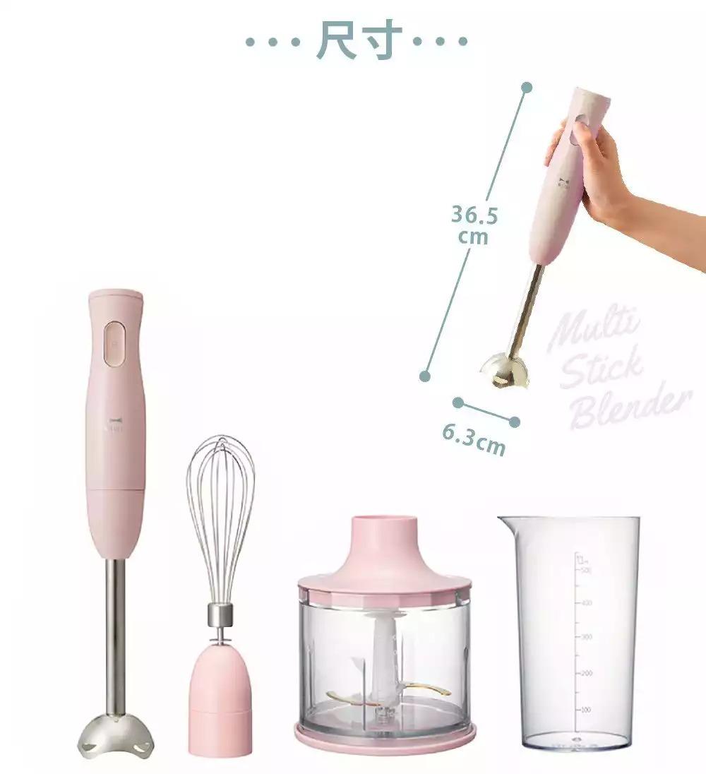 日本主婦之友!BRUNO粉色手持四件組攪拌棒,高顏值易上手,料理變得超輕鬆!(文末抽獎)