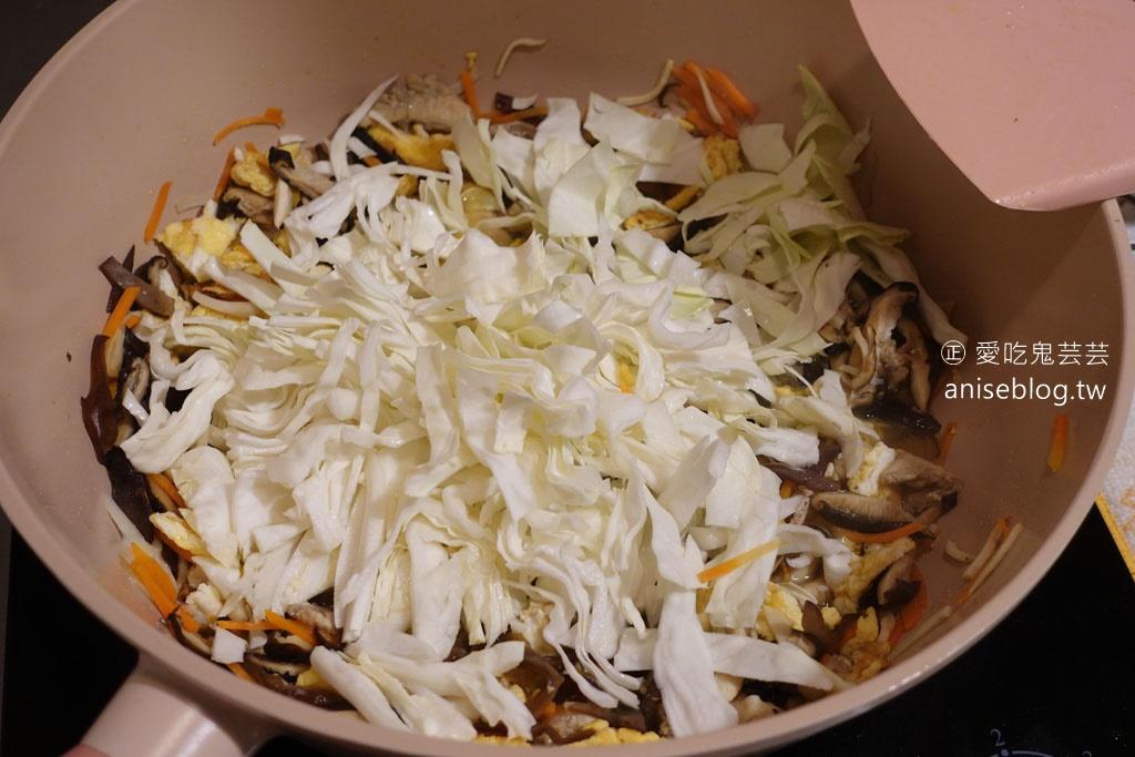 炒鱈魚香絲簡直像魚麵,也太好吃!據說是詹姆士食譜
